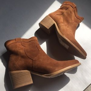 New Look Premium Real Suede Western Bootie 6.5
